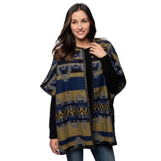 Live A Little Women's Southwestern Print Poncho