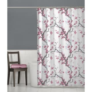 Buy pink floral shower curtains online at overstock our best maytex cherrywod fabric shower curtain mightylinksfo