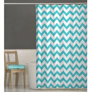 70 x 72 Maytex Chevron Fabric Shower Curtain