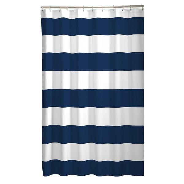 Maytex Porter Stripe Fabric Shower Curtain
