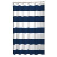 Maytex Porter Stripe Fabric Shower Curtain