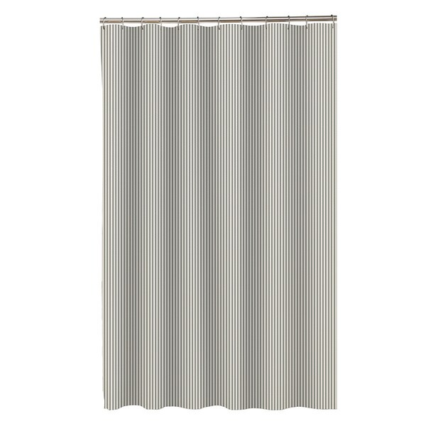 Maytex Seersucker Stripe Fabric Shower Curtain - 17801941 - Overstock ...