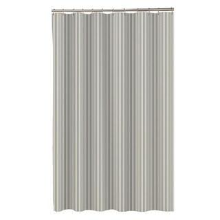Maytex Seersucker Stripe Fabric Shower Curtain