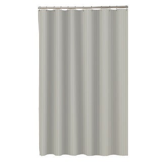 Maytex Seersucker Stripe Fabric Shower Curtain (Option: Yellow)