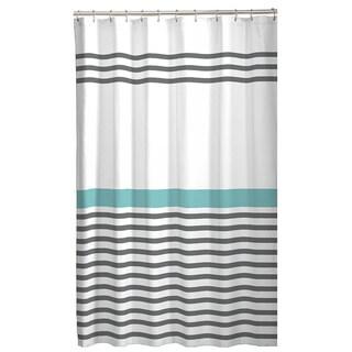 Maytex Simple Stripe Fabric Shower Curtain