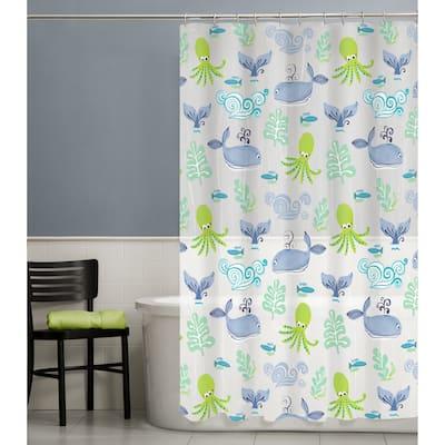 Maytex Sea Creatures PEVA Shower Curtain