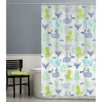 Maytex Sea Creatures PEVA Shower Curtain
