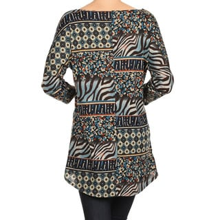 MOA Collection Women's Animal Print Top
