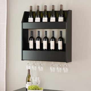 Broadway Black Floating Wine and Liquor Rack