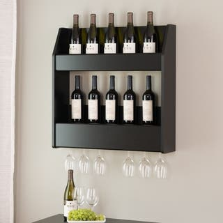 Broadway Black Floating Wine and Liquor Rack|https://ak1.ostkcdn.com/images/products/10747115/P17802009.jpg?impolicy=medium