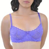 Prestige Biatta Purple Floral Lace Soft Cup Bra