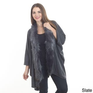 Saro Women's Faux Fur Edged Wrap|https://ak1.ostkcdn.com/images/products/10747139/P17802030.jpg?impolicy=medium