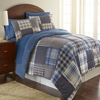 Micro Flannel Smokey Mt. Plaid 3-piece Comforter Set