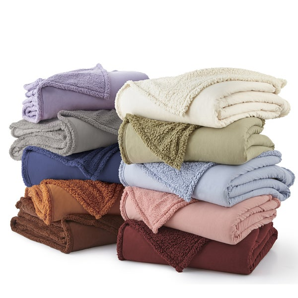 Micro Flannel Sherpa Blankets