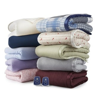 Quilted Micro Flannel Electric Heated Blanket