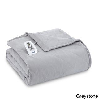 Quilted Micro Flannel Electric Heated Blanket (More options available)