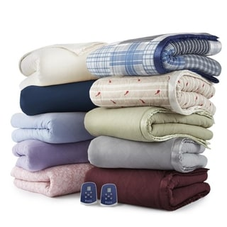 Link to Shavel Micro Flannel Quilted Electric Heated Blanket Similar Items in Blankets & Throws