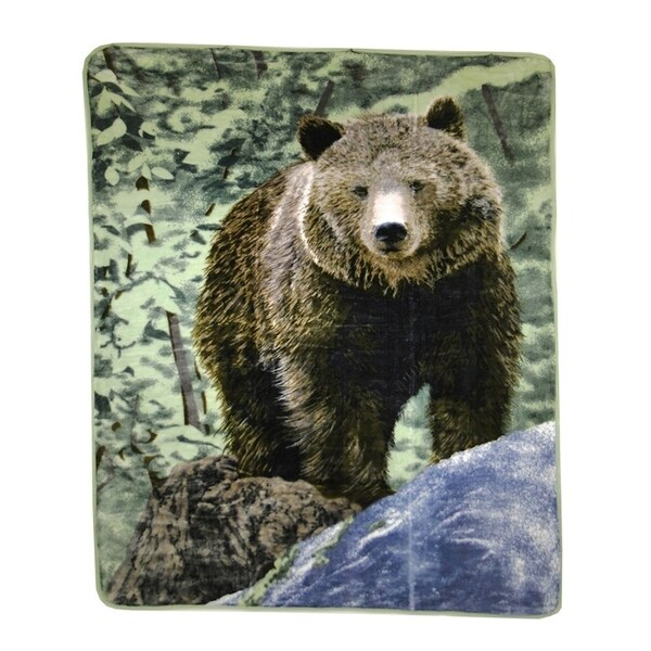 Hi Pile Oversized Throw Brown Bear Design