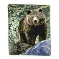 Hi Pile Oversized Throw Brown Bear Design