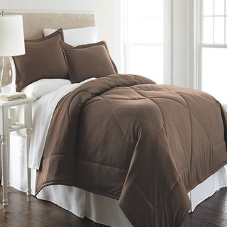Micro Flannel  Solid Color 3-piece Comforter Set