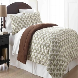 Micro Flannel Pinecone 3-piece Comforter Set