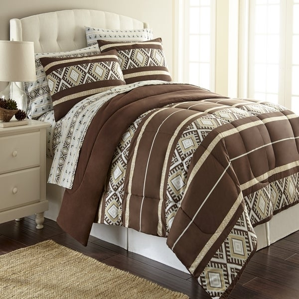Shavel Micro Flannel Reindeer Stripe Printed Comforter Mini Set - Reindeer Stripe
