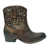 Women's Diba True Flying Solo Bootie Chocolate Leather