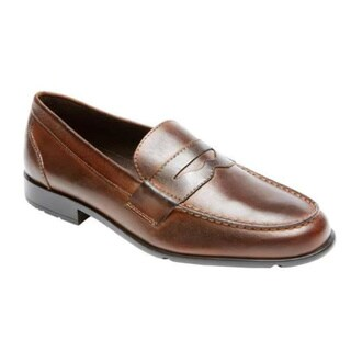 Men's Rockport Classic Loafer Lite Penny Dark Brown Leather
