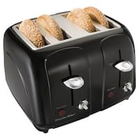 Proctor-Silex Black Cool-Touch 4 Slice Toaster