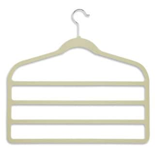 Honey Can Do White Velvet Touch 4-step Pant Hanger 10-pack