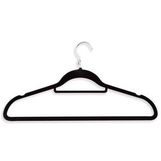 Honey Can Do Black Velvet Touch Cascading Suit Hanger 18-pack