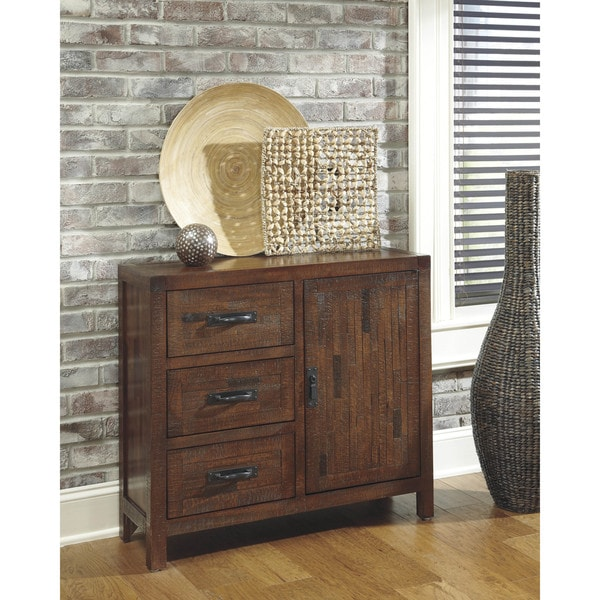 Shop Vennilux Brown Accent Cabinet Free Shipping Today
