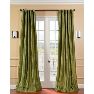 EFF Fern Green Solid Faux Silk Taffeta Curtain Panel (108-inch) (As Is Item)