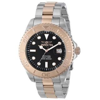 Invicta Men's Two-Tone Stainless Steel INV0779 15188 Pro Diver Black Dial Bracelet Watch