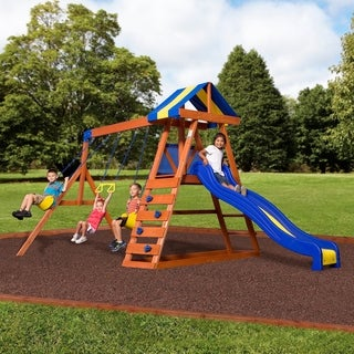 Backyard Discovery Dayton All Cedar Swingset