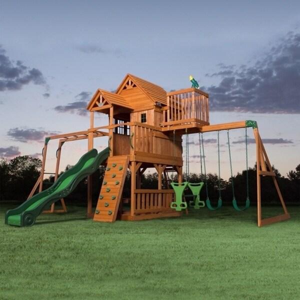 Backyard Discovery Skyfort II All Cedar Swingset