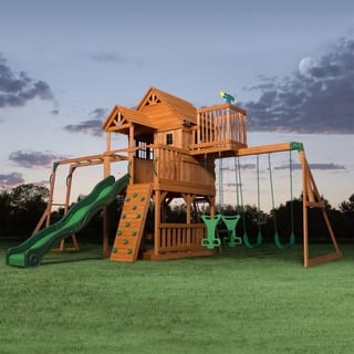 Backyard Discovery Skyfort II All Cedar Swingset|https://ak1.ostkcdn.com/images/products/10754900/P17808758.jpg?impolicy=medium