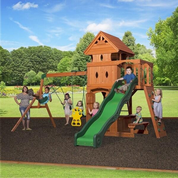 Shop Backyard Discovery Monterey Cedar Swing Set Play Set Free