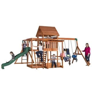 Backyard Discovery Monticello Stained Cedar Swing Set Play Set