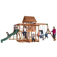 Backyard Discovery 35015 Monticello Stained Cedar Swing Set Play Set