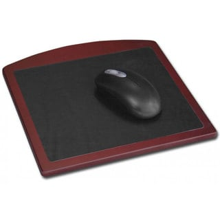 Rosewood and Black Leather Mouse Pad