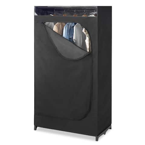 Whitmor Black Portable Clothes Closet with See-through Window