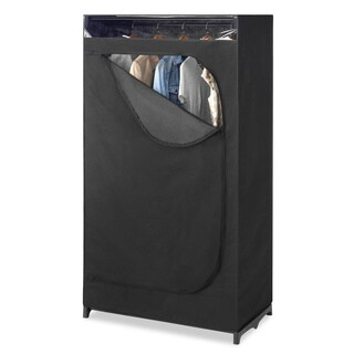 Whitmor Black Portable Clothes Closet with See-through Window