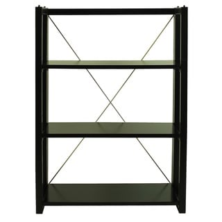 Citiscape Folding/ Stacking Bookcase - 38h x 28w x 12d (Black)