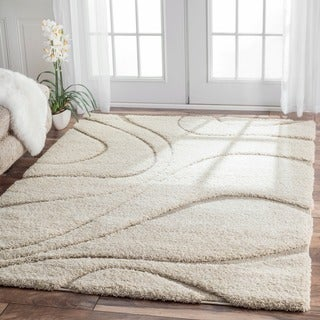 Nuloom Luxuries Posh Ivory Shag Rug Free Shipping Today