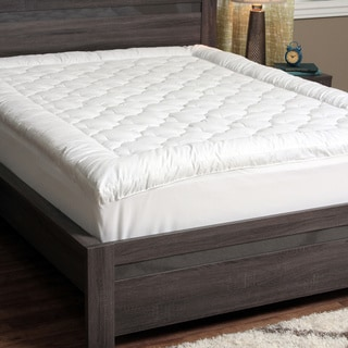 CozyClouds by DownLinens Billowy Clouds Mattress Pad in White Full Size (As Is Item)