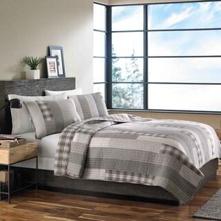 Eddie Bauer Fairview Cotton Reversible 3-piece Quilt Set King size (As Is Item)