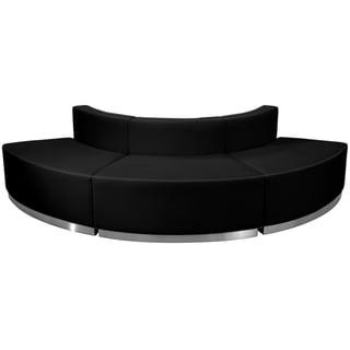 HERCULES Alon Series Bonded Leather Reception Configuration, 3 Pieces