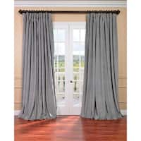 """EFF Silver Grey Velvet Blackout Extra Wide Curtain Panel 108"""" (As Is Item)"""
