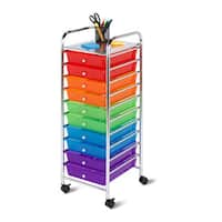 Honey-Can-Do 10 drawer multicolor storage cart